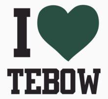 I heart Tebow Women's Shirt Kids Clothes