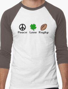 Peace Shamrock Rugby Men's Baseball ¾ T-Shirt