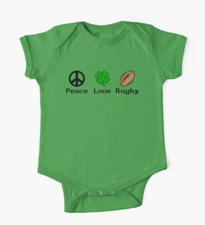 Peace Shamrock Rugby One Piece - Short Sleeve