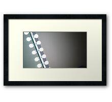 Lightbulbs Against Dark Ceiling Framed Print