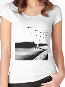 manipulation of photo of walk way in spain Women's Fitted Scoop T-Shirt