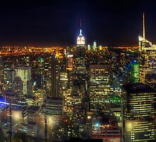 Manhattan Nite Lites Panorama by Yhun Suarez
