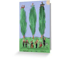 boating in trees Greeting Card