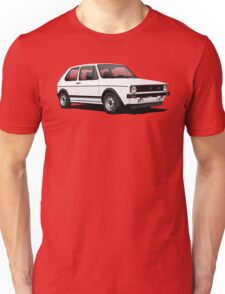 VW Golf GTI Mk1 illustration white T-Shirt