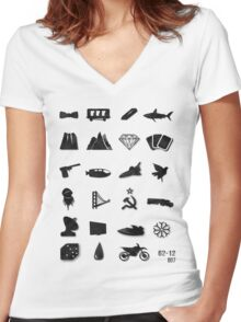 50 Years of James Bond Women's Fitted V-Neck T-Shirt