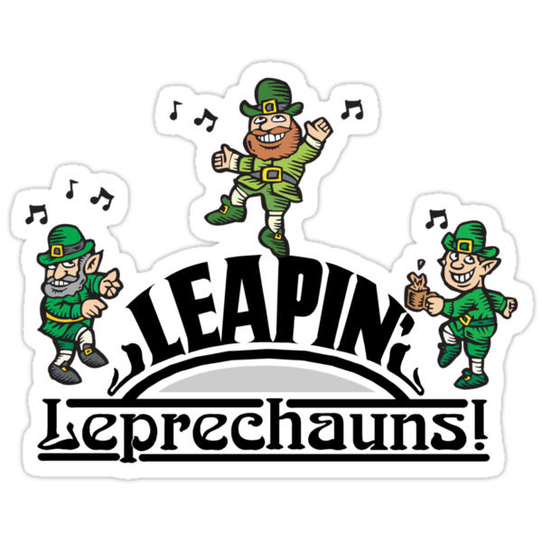 Leaping Leprechauns by HolidayT-Shirts