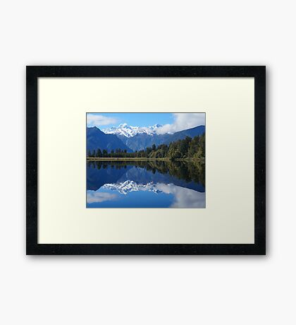 Lake Matheson, NZ Framed Print