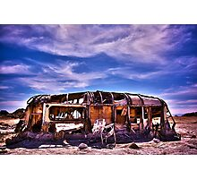 Abandoned RV at The Salton Sea Photographic Print
