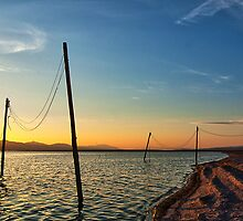 Sunset at The Salton Sea by eddieguy