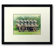 Barrel Cart Framed Print