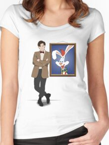 Doctor Who Framed Roger Rabbit Women's Fitted Scoop T-Shirt