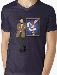 Doctor Who Framed Roger Rabbit Mens V-Neck T-Shirt