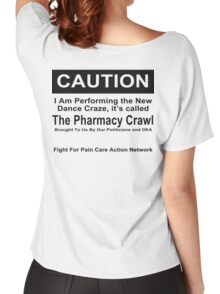 Caution Protest T-shirt Women's Relaxed Fit T-Shirt
