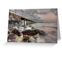 St Leonards Pier at Sunset, Bellarine Peninsula, Victoria Greeting Card