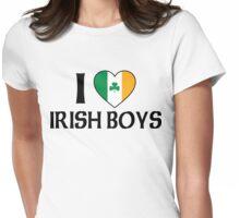 I Love Irish Boys Womens Fitted T-Shirt