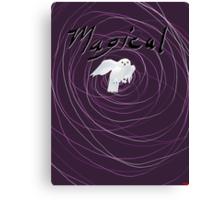 magical white owl  Canvas Print