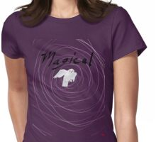 magical white owl  Womens Fitted T-Shirt