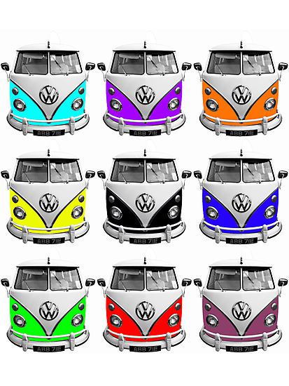 Volks Warhol on White (also available as transparent square) by RoystonVasey