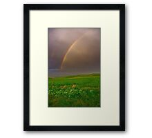 """""""A Late Afternoon Shower"""" Framed Print"""