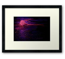 Night Sea Framed Print