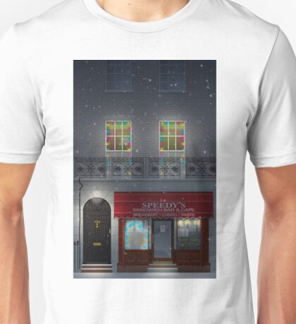Sherlock Speedy's Cafe christmas Unisex T-Shirt