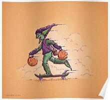 Green Goblin Trick or Treat Poster