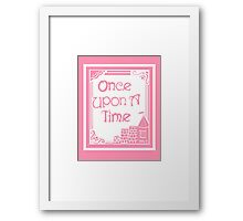 Once Upon A Time in Pink Framed Print