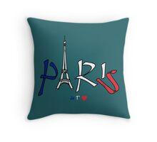 PARIS I Love you! (version 2) Throw Pillow