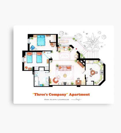 Three's Company Apartment Floorplan Canvas Print