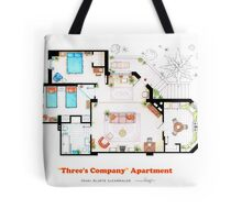 Three's Company Apartment Floorplan Tote Bag