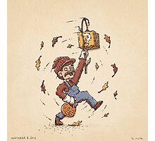Super Mario Trick or Treat Photographic Print