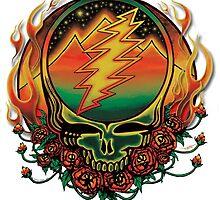 Grateful Dead - Steal your Face Scarlet Fire by jefflevin