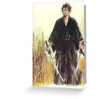 Miyamoto Musashi - Vagabond - Raw - Dual Wield  Greeting Card