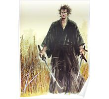 Miyamoto Musashi - Vagabond - Raw - Dual Wield  Poster