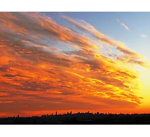 Firey Sky - New York City Photographic Print