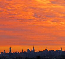 Autumn Sky, New York City  by Alberto  DeJesus