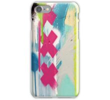 Pink cross paint strokes iPhone Case/Skin
