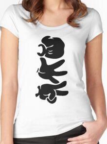 Rock Paper Scissors (Black) Women's Fitted Scoop T-Shirt