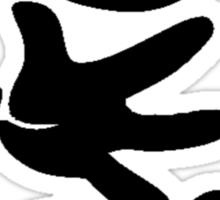 Rock Paper Scissors (Black) Sticker
