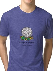 Sculpted puffball (with smiley face) Tri-blend T-Shirt