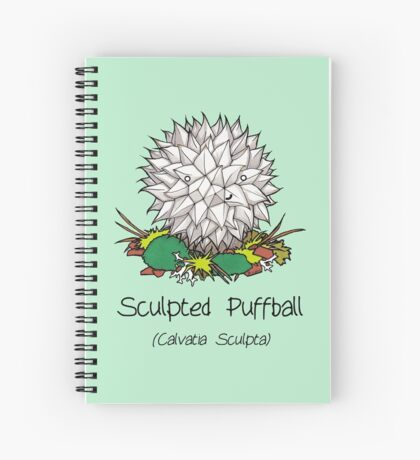 Sculpted puffball (with smiley face) Spiral Notebook