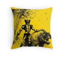 Wolverine Ink Illustration Throw Pillow