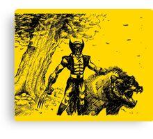Wolverine Ink Illustration Canvas Print