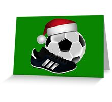 Christmas Soccer  Greeting Card