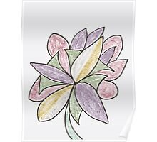 Carnivaled Flowers (a Bouquet of Pastel Colours) Poster
