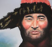 Green eyed Mongol (although you can't see it here) by Colombe  Cambourne
