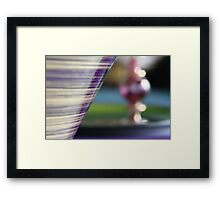 Studies in glass ...bokeh Framed Print