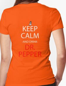 steins gate keep calm and drink dr pepper anime manga shirt Womens Fitted T-Shirt