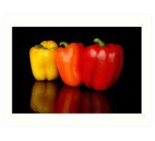 3 peppers Art Print