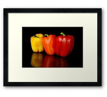 3 peppers Framed Print
